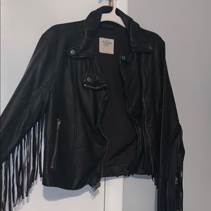 Abercrombie & Fitch fringe leather jacket